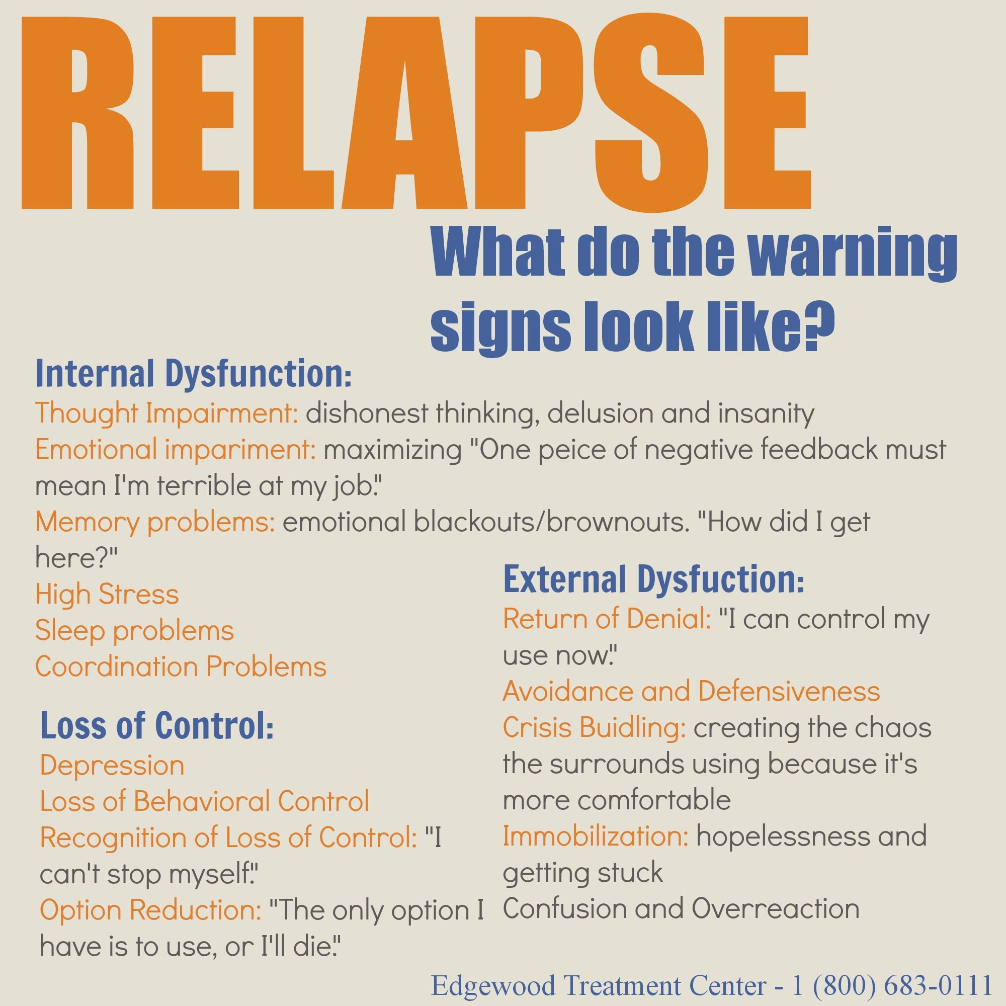 Relapse Warning Signs Relapse Doesn T Just Happen