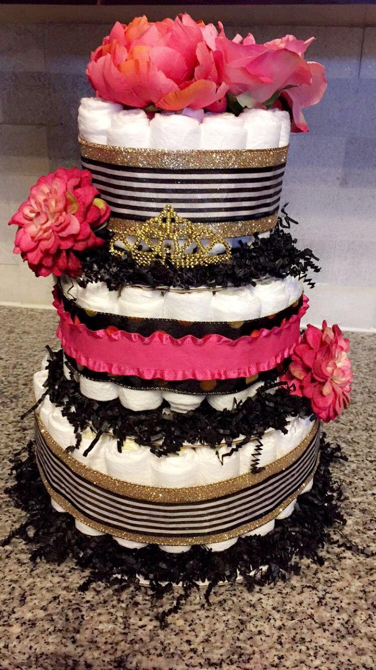 Kate Spade Themed Diaper Cake Baby Shower Doin It