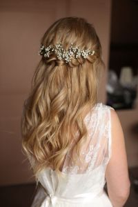 Braids half up half down wedding hairstyle