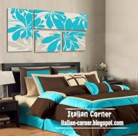 bedroom natural abstract oil panting on canvas wall art ...