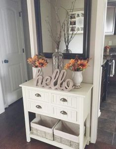 End of hallway tables decor also love this look  pinteres rh pinterest