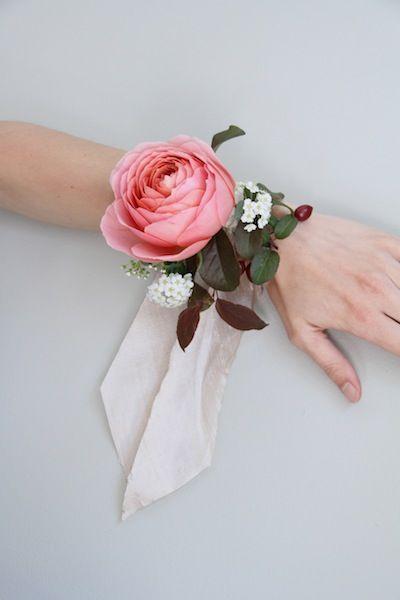 Dahlia Corsage Wristlet