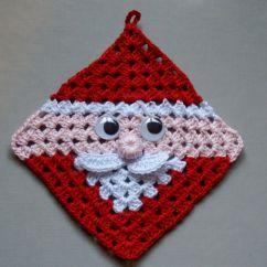 Free Crochet Square Pattern Diagram Harp Seal Life Cycle Santa Claus Granny Hot Pad