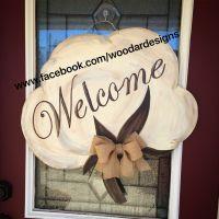 Welcome cotton boll wooden door hanger www.facebook.com ...