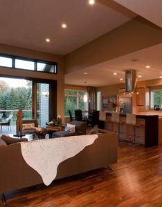 open plan house interior design