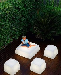 Contemporary And Unique Light Seats Design Outdoor