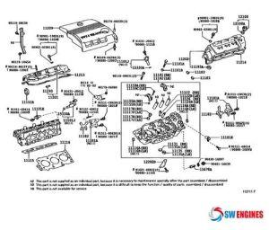 2005 Toyota Camry Exploded Engine Diagram #SWEngines