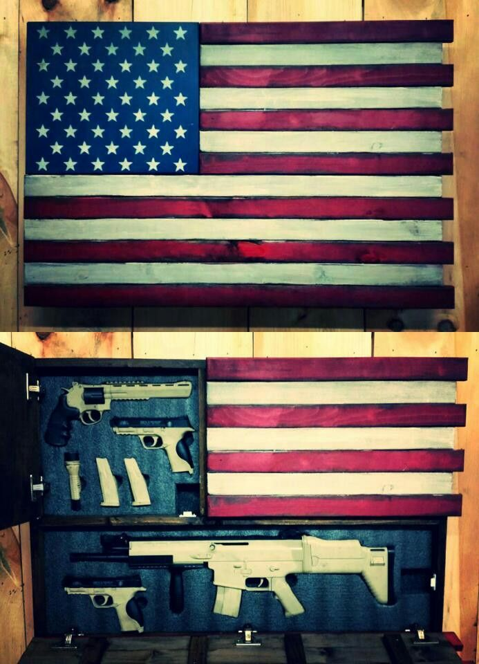 Old Glory Deluxe Concealment Flag Hidden Compartment