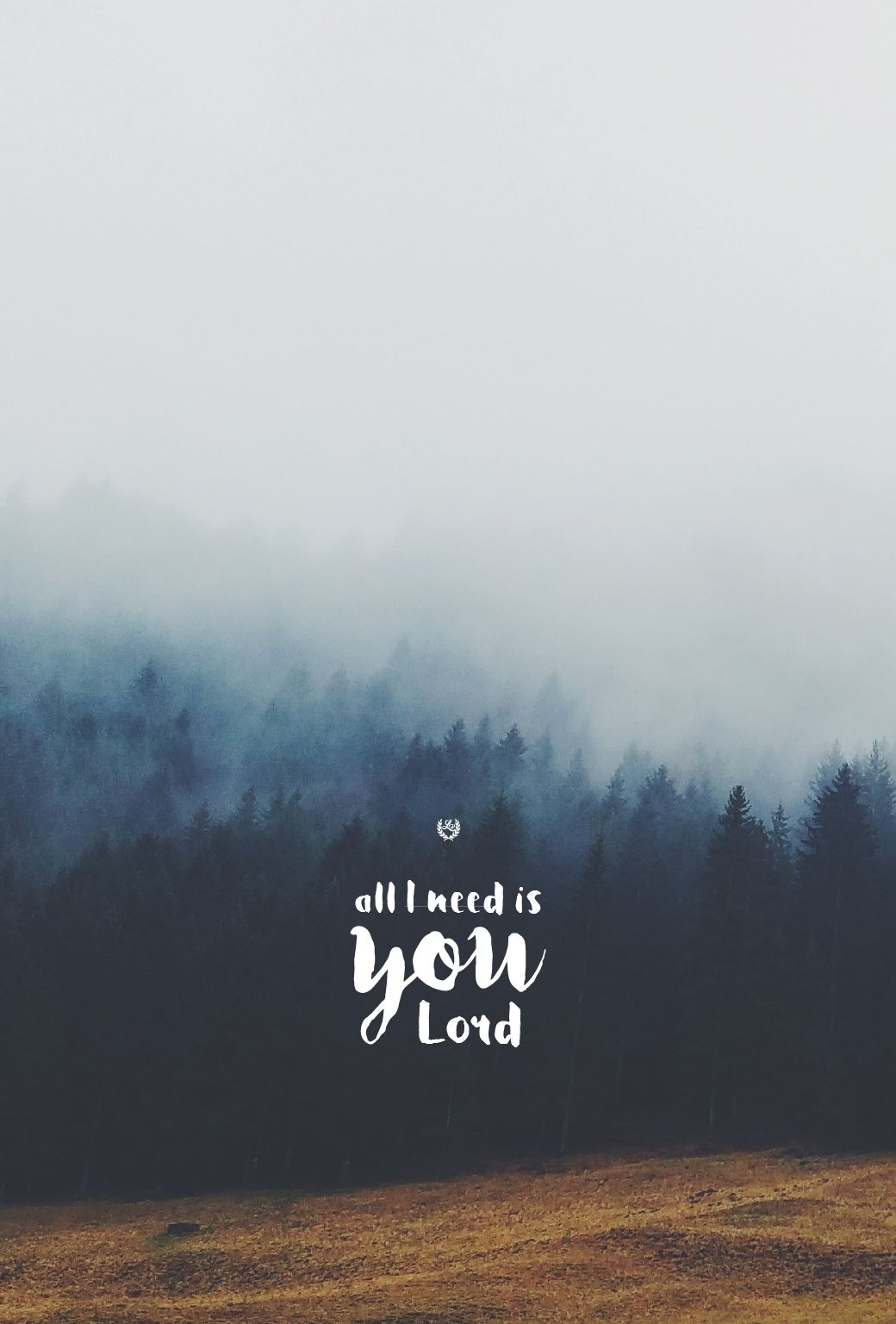 """all i need is you""""hillsong united // phone screen format"""