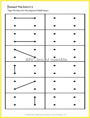 Printable Dot Grid Imitation Worksheets Progressively