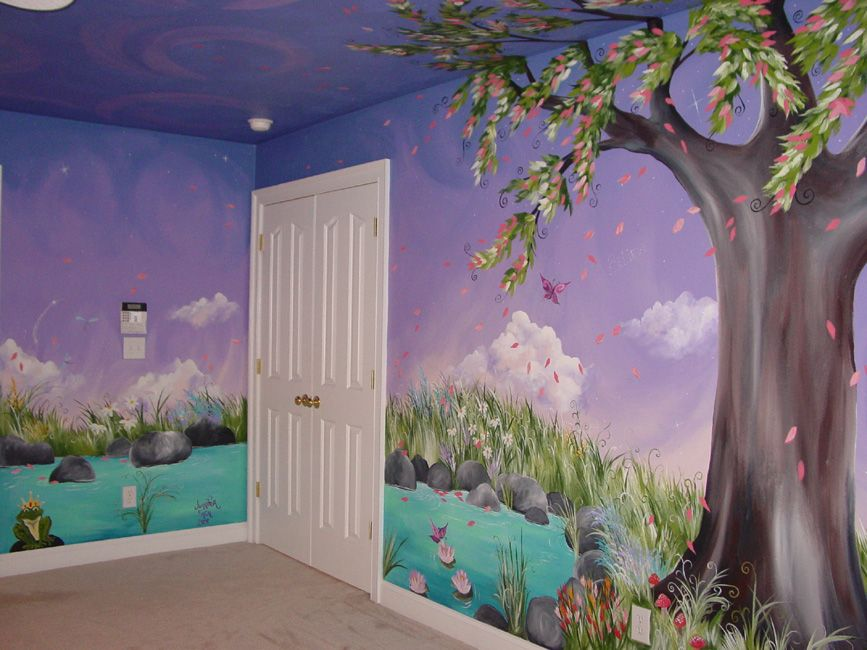 Jaden's Dreaming Tree Custom Murals Hand Painted Furntiure