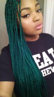 green box braids hair inspiration