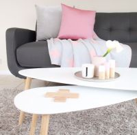 Kmart Homewares set of 2 coffee tables with wooden ...