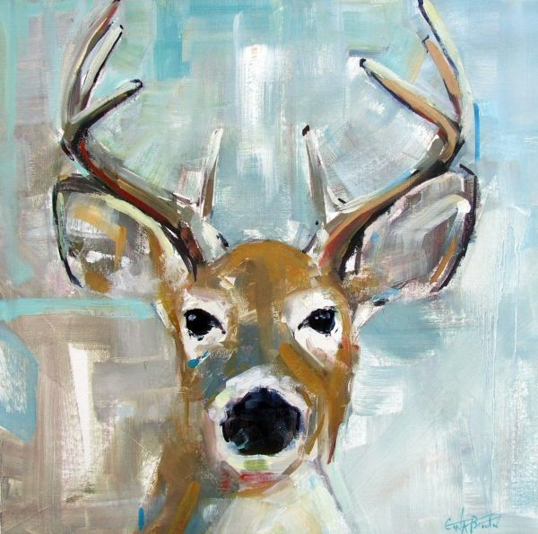 Deer Oil Paintings Canvas
