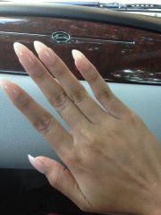 nude stiletto nails makeup &