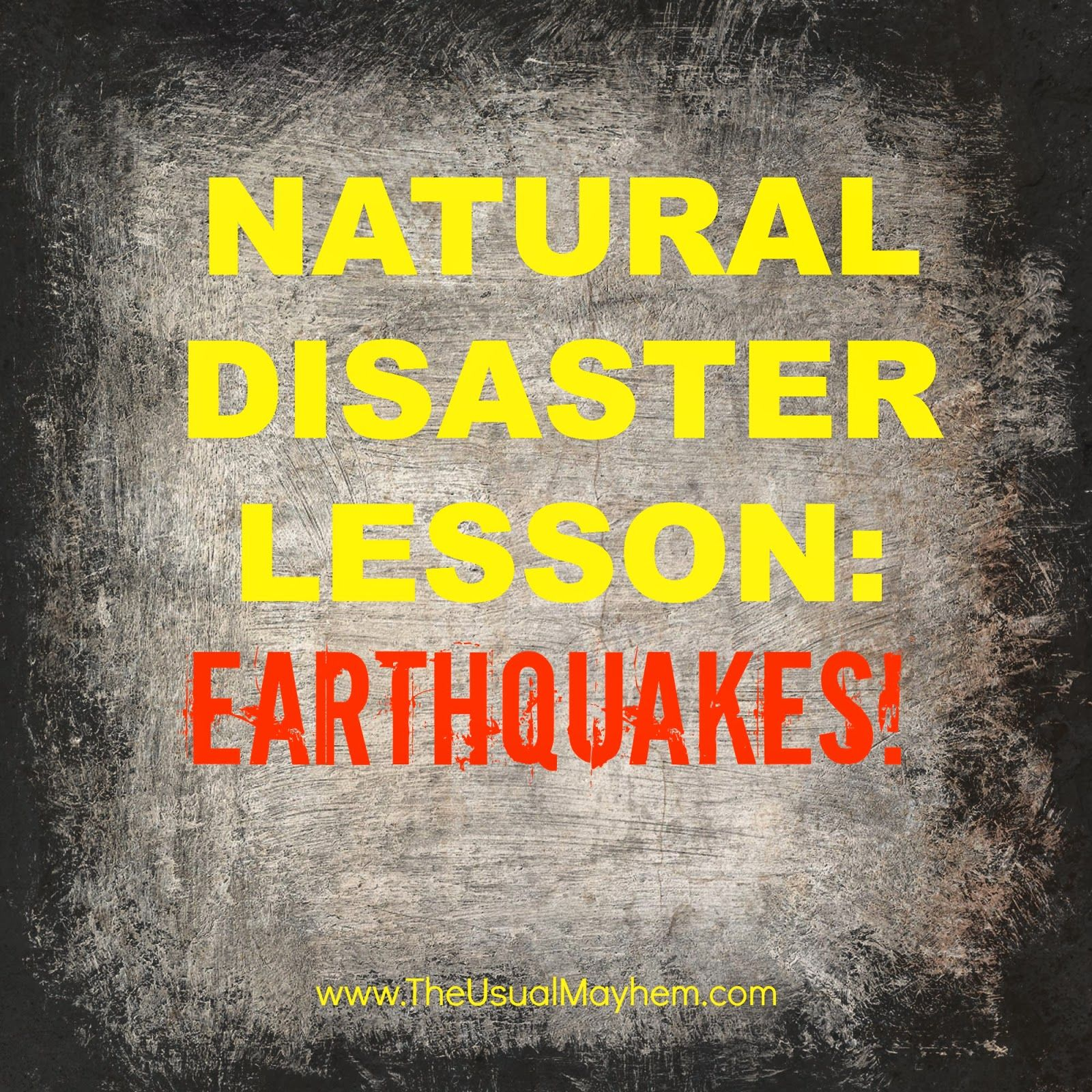 Natural Disasters Lesson For Middle School Earthquakes