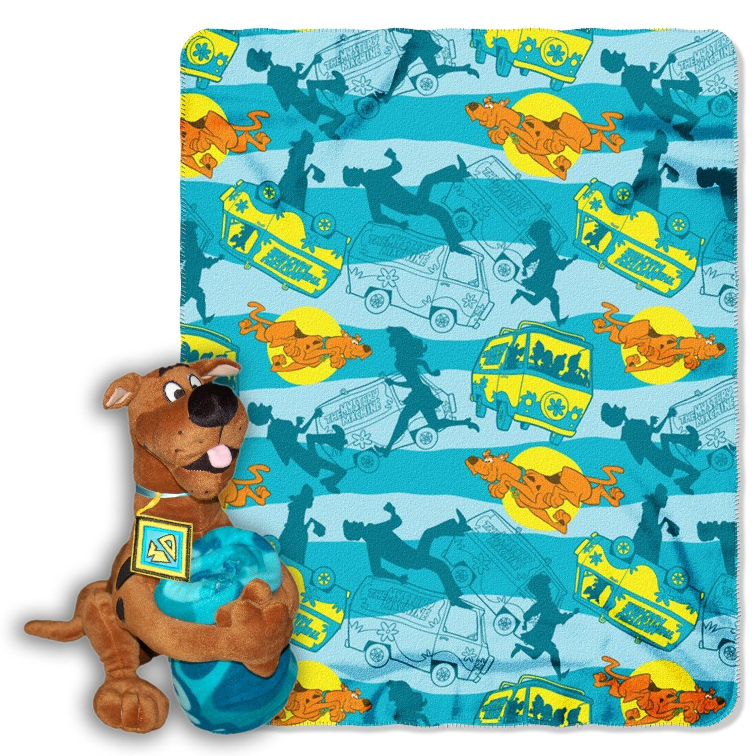 Scooby Doo blanket with pillow plush  Bedroom Theme