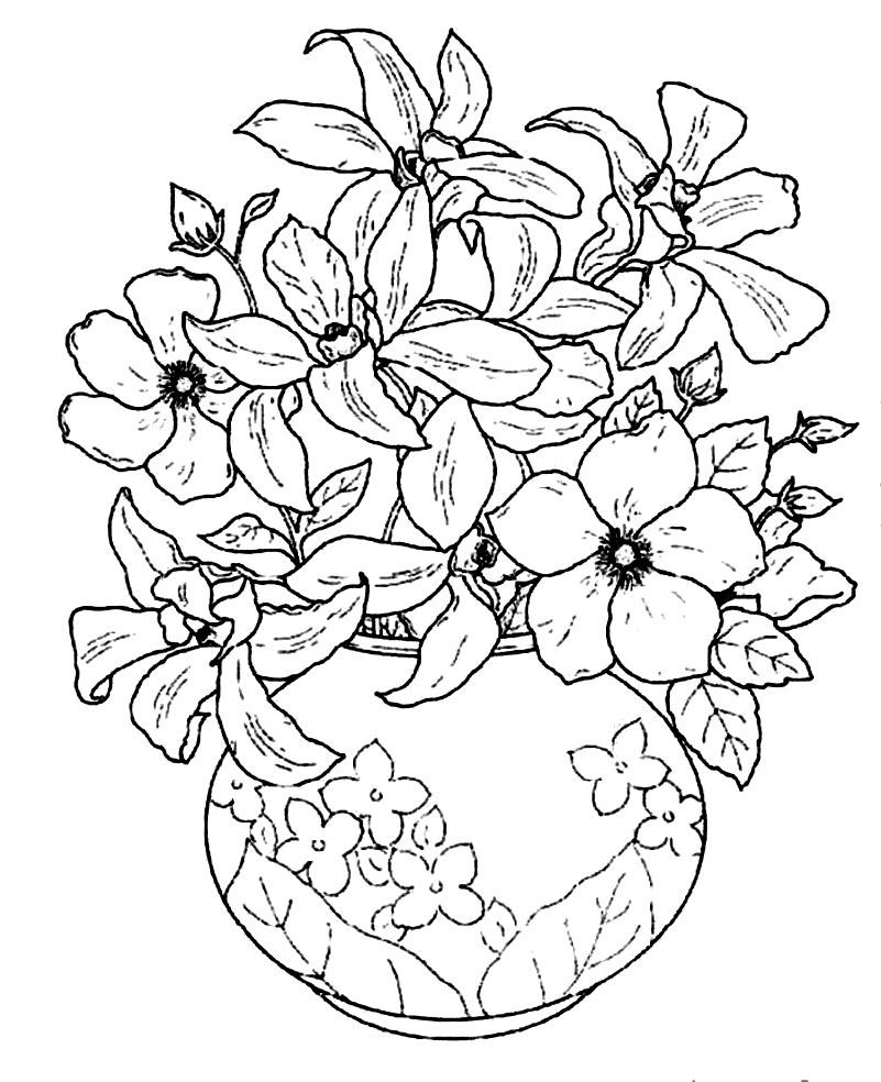 Coloring Empty Flower Vase Coloring Pages