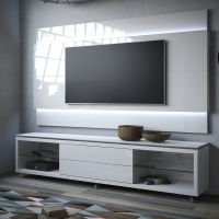 Manhattan Comfort Lincoln TV Stand w/ Casters & Lincoln ...