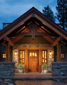 Craftsman Style Front Porch Entry Door