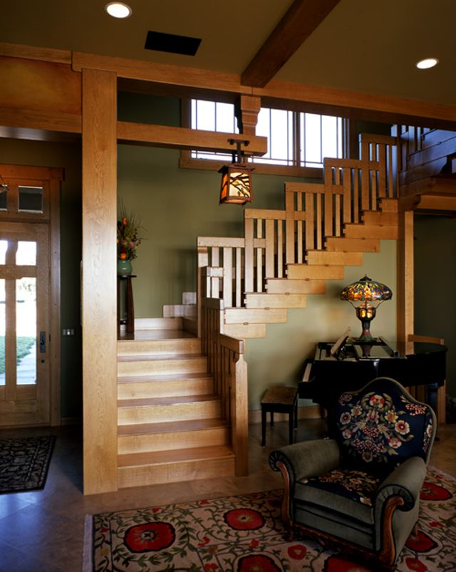 Our Stairway Inspired By Greene And Greene's Blacker House Style