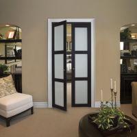 good looking frosted glass linen closet doors ...