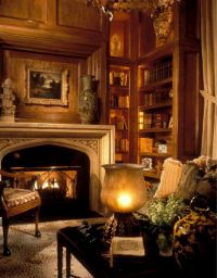 The warmth of the fire in the red library... sleep in the ...