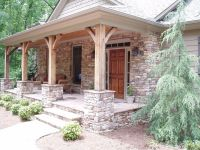 Stacked Stone Porch Columns