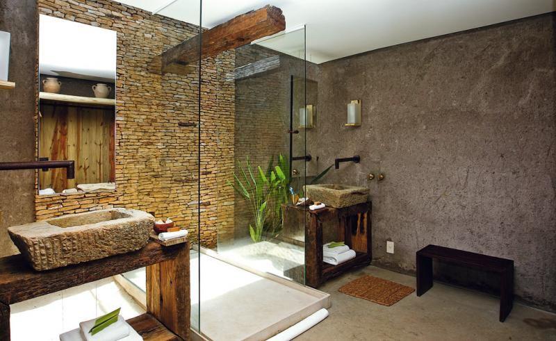Badezimmer Fliesen aus SteinBadewanne und Wand  Innendesign  Pinterest  Wands and Dekoration