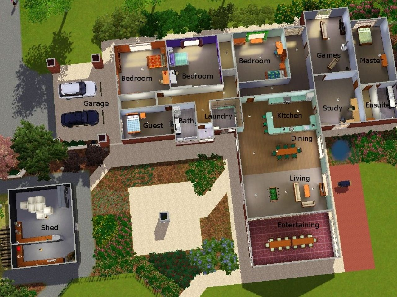 House Layouts For Sims 3 House Plans And Ideas Pinterest