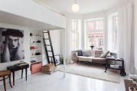 Light studio apartment with loft bed | STUDIO & LOFT ...