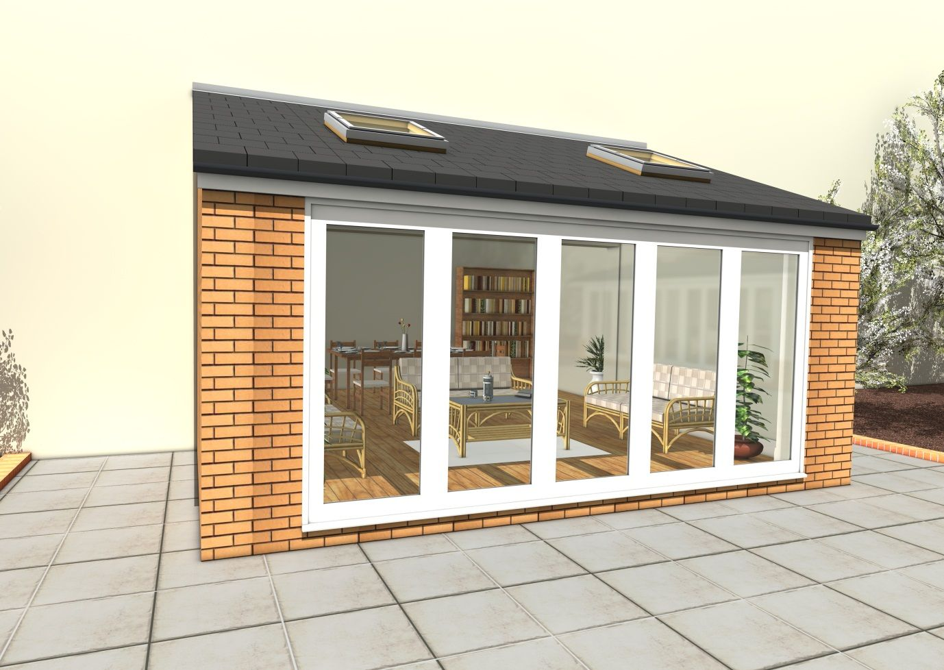 Modern Landscape Ideas Contemporary Garden Room Design Glass Walls