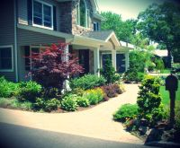 landscaping front walkways | landscape design front ...