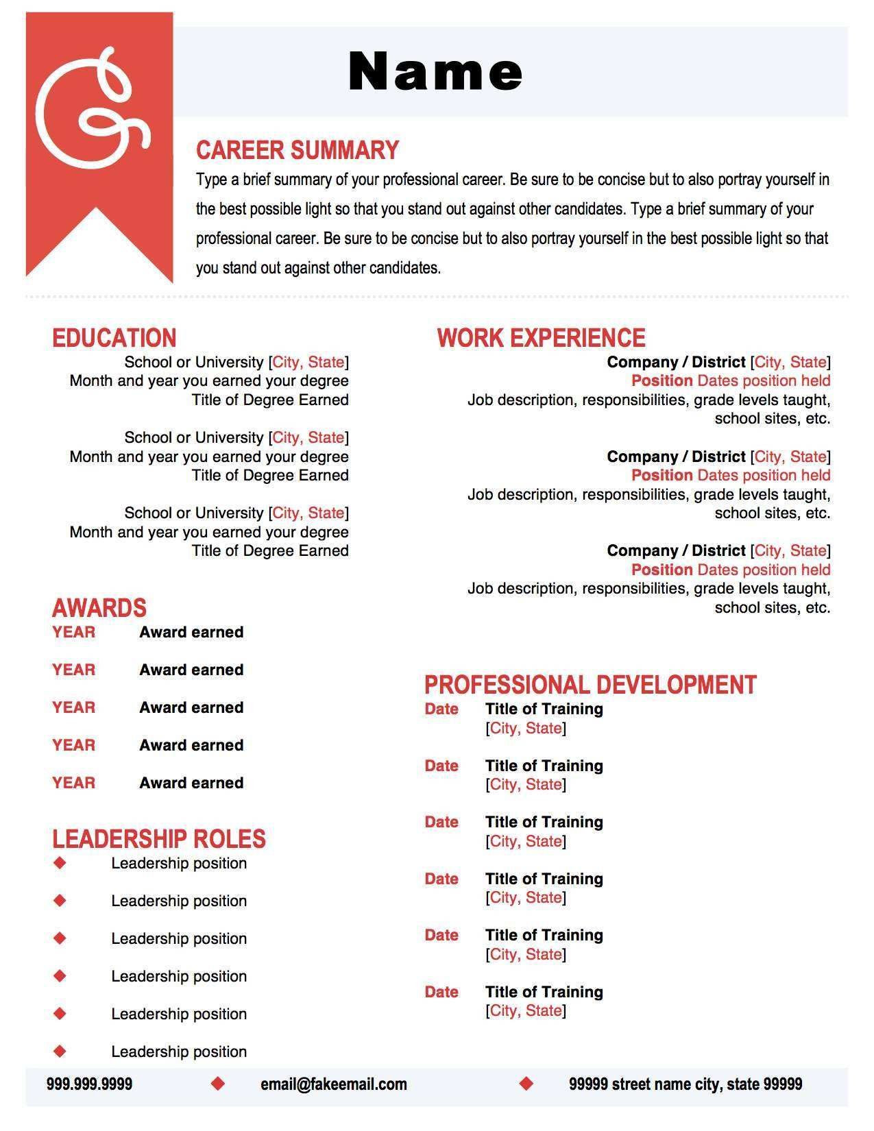 Nursing Resumes That Stand Out Coral And Black Resume Template Make Your Resume Pop With