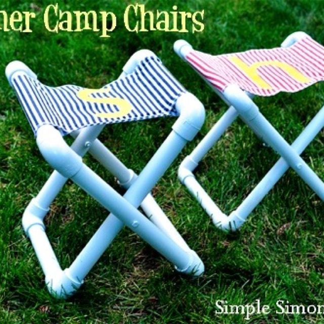 PVC pipe chairs year would be good for fishing.