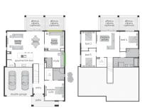 The Horizon Split Level floor plan by McDonald Jones. #