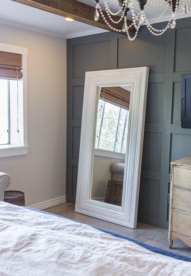 Master Makeover DIY Floor Mirrorfrom Ikea to Vintage