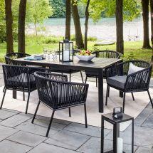 Standish 7-piece Strap Patio Dining Set Threshold