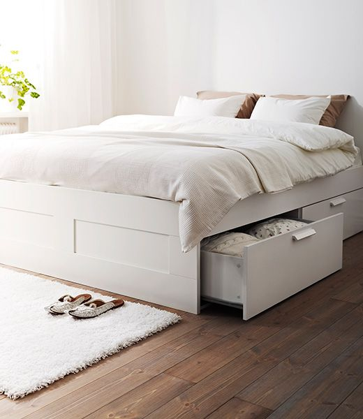 Brimnes double bed bed frame white  Furniture
