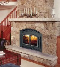 wood burning fireplace hearths and mantles | Wood ...