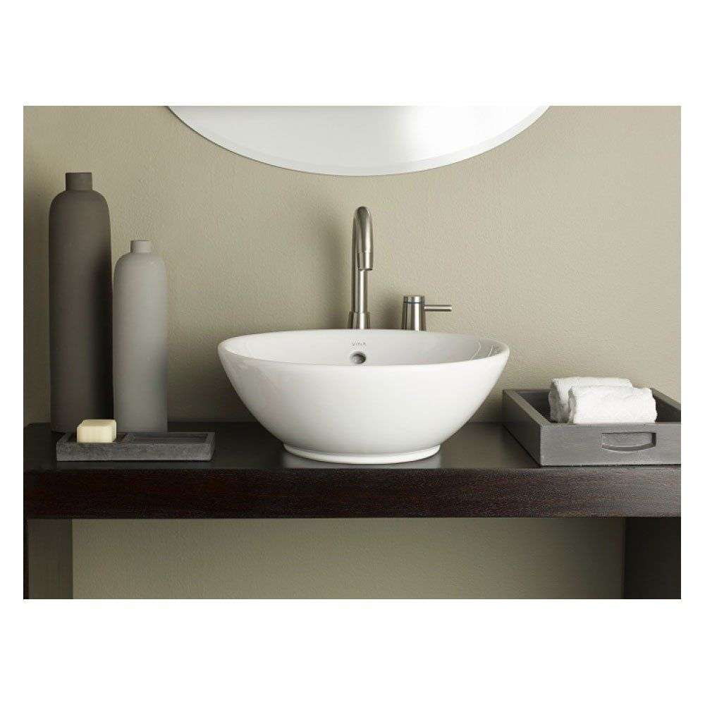Cheviot Water Lily Round Overcounter Bath Sink  Master