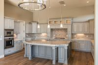 Traditional Kitchen with Simple granite counters, Custom ...
