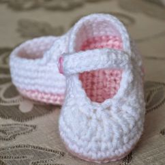 Crochet Baby Booties Diagram Mk2 Fiat Punto Wiring Pretty And Plain Little Mary Jane Free Pattern