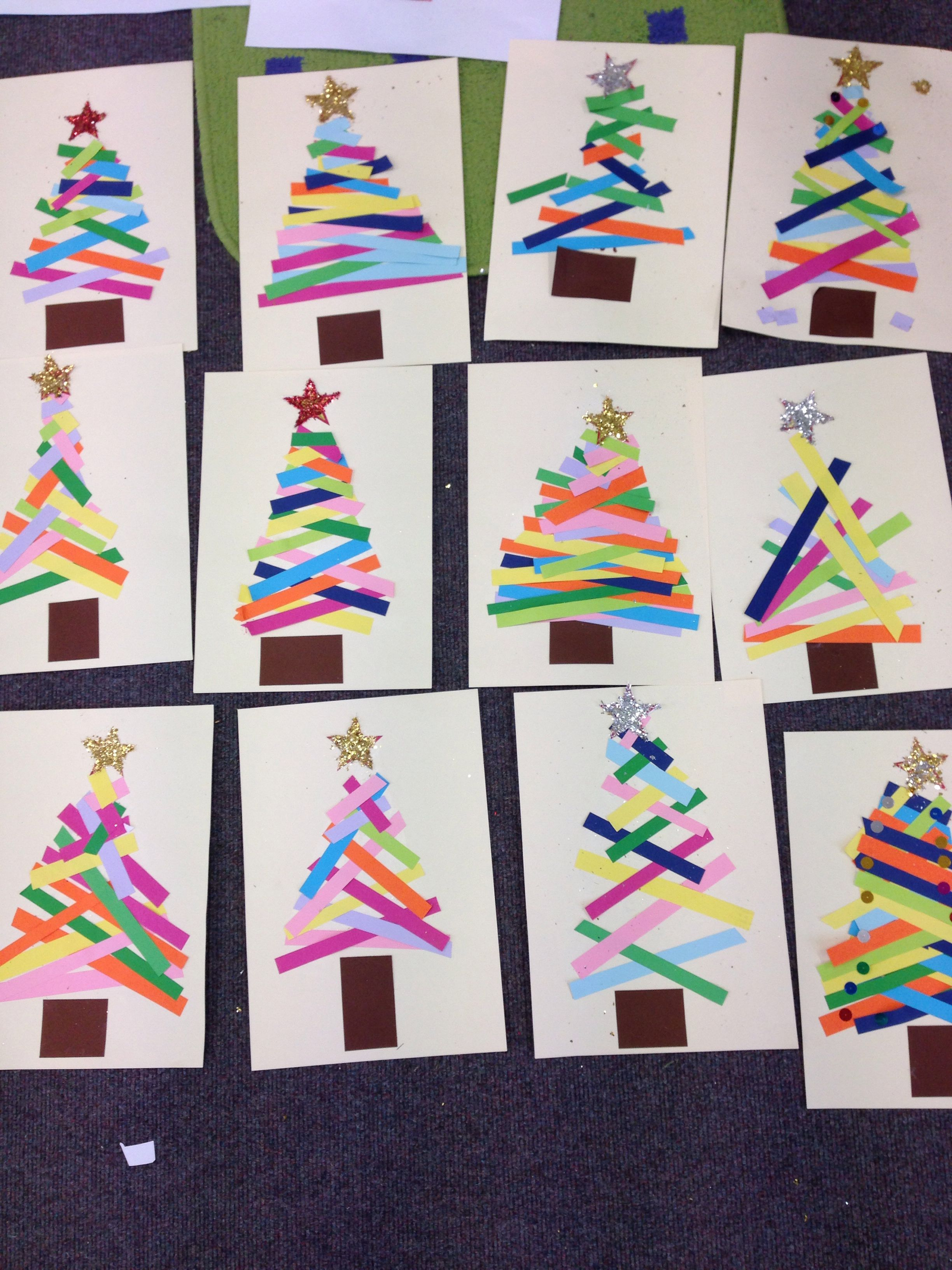 Kindergarten Do This As A Center Christmas Tree Paper