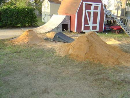 Building Dirt Jumps  Kids Outdoor Play Area Pinterest
