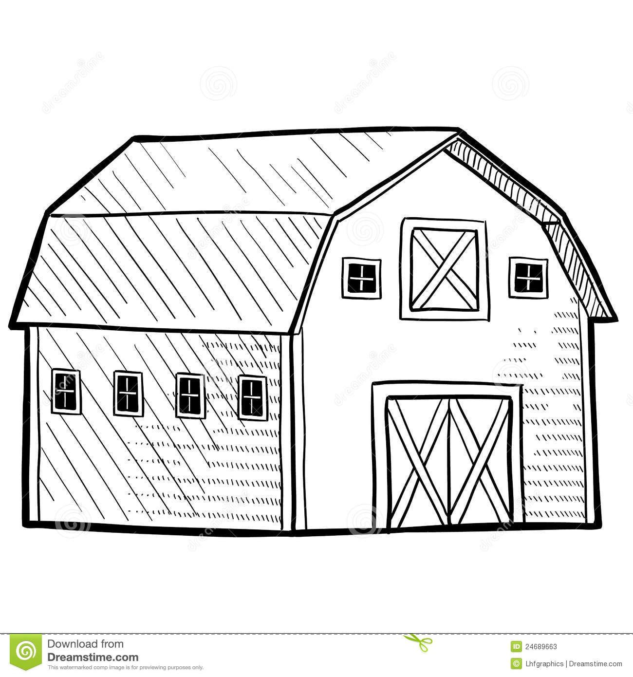 Black And White Barn Outline Pictures To Pin