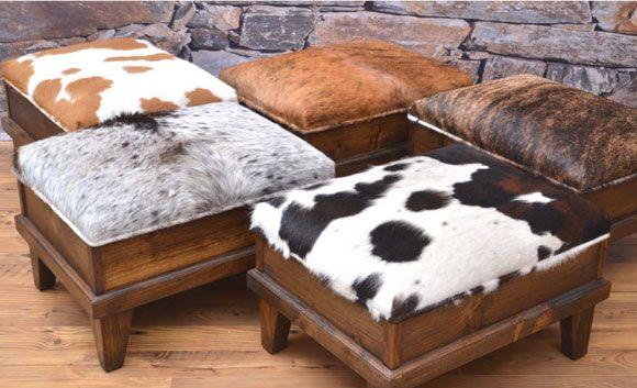 Best 25 Cowhide ottoman ideas on Pinterest  Cowhide