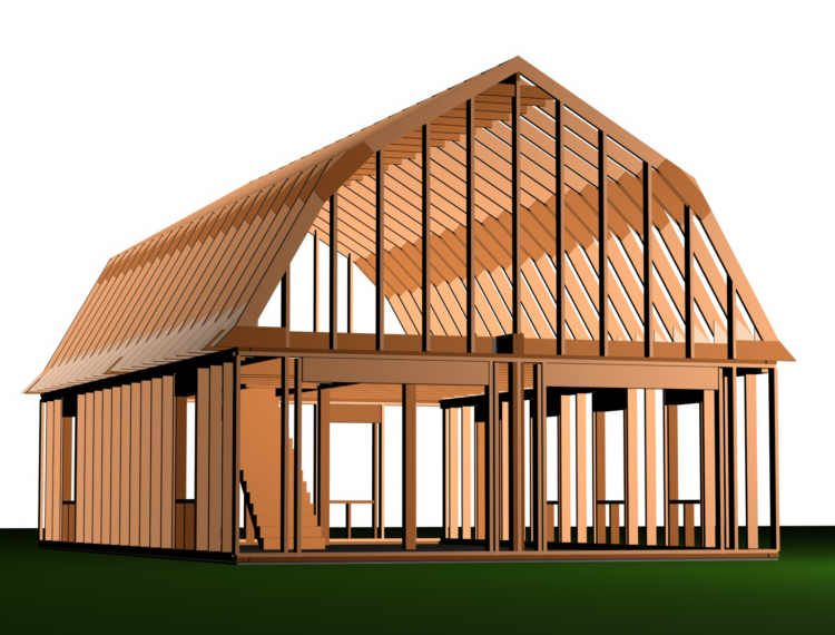 Gambrel Roof House Plans Gambrel Roof House Plans Design