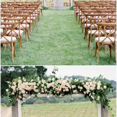 Wedding Wooden Chairs Swing Egg Chair Romantic Al Fresco Nuptials In California Paso Robles