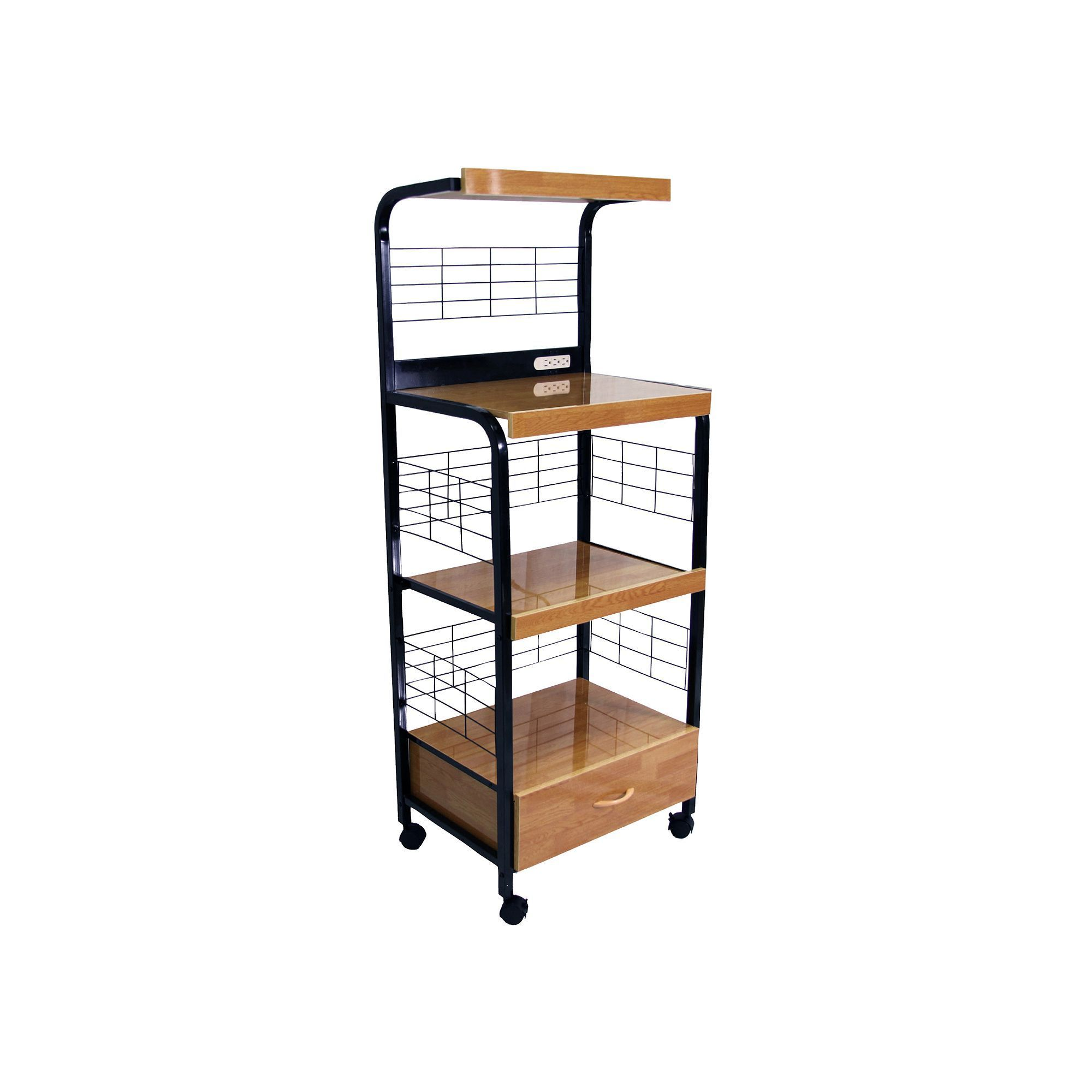 wire kitchen cart bench seating table kohl s rack microwave and products black